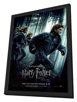 Harry Potter and the Deathly Hallows: Part I - 27 x 40 Movie Poster - Style C - in Deluxe Wood Frame