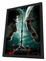 Harry Potter and the Deathly Hallows: Part II - 11 x 17 Movie Poster - Style J - in Deluxe Wood Frame