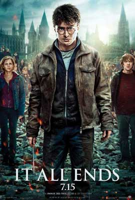 Harry Potter and the Deathly Hallows: Part II - 11 x 17 Movie Poster - Style X