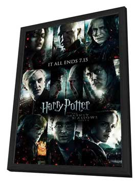 Harry Potter and the Deathly Hallows: Part II - 27 x 40 Movie Poster - Style H - in Deluxe Wood Frame