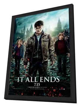 Harry Potter and the Deathly Hallows: Part II - 27 x 40 Movie Poster - Style K - in Deluxe Wood Frame