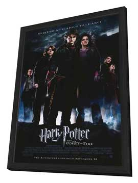 Harry Potter and the Goblet of Fire - 11 x 17 Movie Poster - Style B - in Deluxe Wood Frame