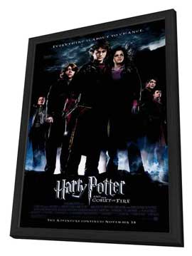 Harry Potter and the Goblet of Fire - 27 x 40 Movie Poster - Style B - in Deluxe Wood Frame
