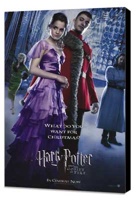 Harry Potter and the Goblet of Fire - 27 x 40 Movie Poster - Style E - Museum Wrapped Canvas