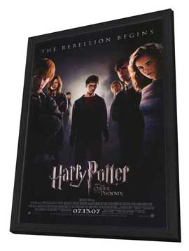 Harry Potter and the Order of the Phoenix - 27 x 40 Movie Poster - Style B - in Deluxe Wood Frame