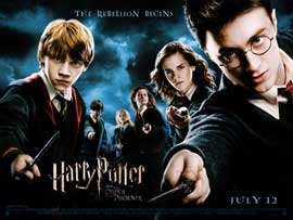 Harry Potter and the Order of the Phoenix - DS British Quad 30 x 40 - Style A