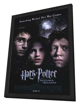 Harry Potter and the Prisoner of Azkaban - 11 x 17 Movie Poster - Style B - in Deluxe Wood Frame
