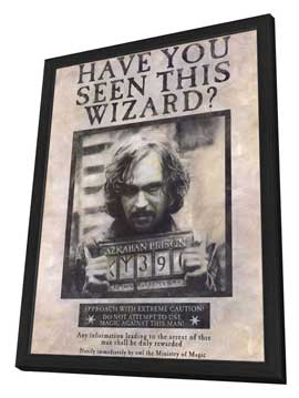 Harry Potter and the Prisoner of Azkaban - 27 x 40 Movie Poster - Style A - in Deluxe Wood Frame
