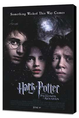 Harry Potter and the Prisoner of Azkaban - 27 x 40 Movie Poster - Style B - Museum Wrapped Canvas