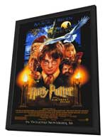 Harry Potter and the Sorcerer's Stone - 11 x 17 Movie Poster - Style A - in Deluxe Wood Frame