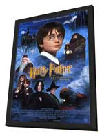 Harry Potter and the Sorcerer's Stone - 27 x 40 Movie Poster - Style B - in Deluxe Wood Frame