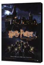 Harry Potter and the Sorcerer's Stone - 27 x 40 Movie Poster - Style D - Museum Wrapped Canvas