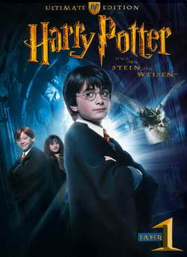 Harry Potter and the Sorcerer's Stone - 27 x 40 Movie Poster - German Style B