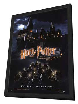 Harry Potter and the Sorcerer's Stone - 11 x 17 Movie Poster - Style C - in Deluxe Wood Frame