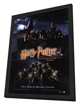 Harry Potter and the Sorcerer's Stone - 27 x 40 Movie Poster - Style D - in Deluxe Wood Frame