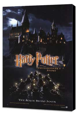 Harry Potter and the Sorcerer's Stone - 11 x 17 Movie Poster - Style C - Museum Wrapped Canvas