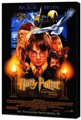 Harry Potter and the Sorcerer's Stone - 11 x 17 Movie Poster - Style A - Museum Wrapped Canvas