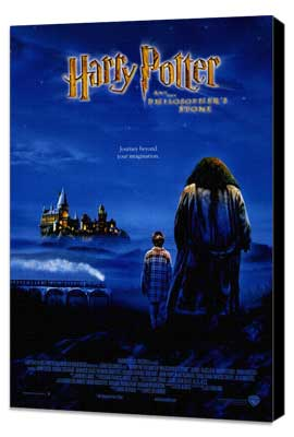 Harry Potter and the Sorcerer's Stone - 11 x 17 Movie Poster - Style D - Museum Wrapped Canvas