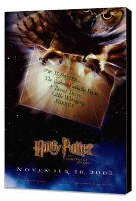 Harry Potter and the Sorcerer's Stone - 27 x 40 Movie Poster - Style C - Museum Wrapped Canvas