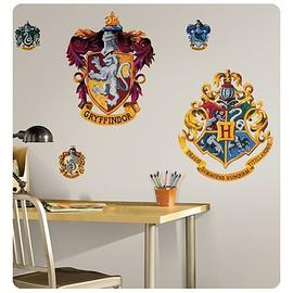 Harry Potter and the Sorcerer's Stone - Peel & Stick Hogwarts Crest Giant Wall Applique