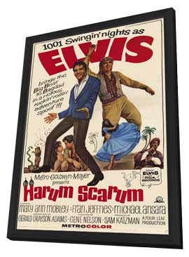 Harum Scarum - 11 x 17 Movie Poster - Style A - in Deluxe Wood Frame