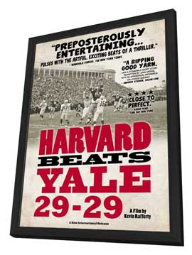 Harvard Beats Yale 29-29 - 27 x 40 Movie Poster - Style A - in Deluxe Wood Frame