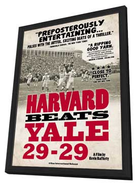 Harvard Beats Yale 29-29 - 11 x 17 Movie Poster - Style A - in Deluxe Wood Frame