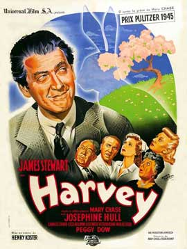 Harvey - 11 x 17 Movie Poster - French Style A