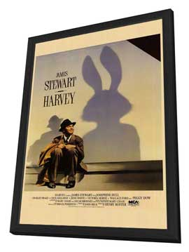 Harvey - 11 x 17 Movie Poster - Style A - in Deluxe Wood Frame
