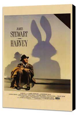 Harvey - 11 x 17 Movie Poster - Style A - Museum Wrapped Canvas