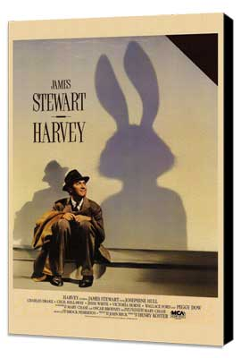 Harvey - 27 x 40 Movie Poster - Style A - Museum Wrapped Canvas