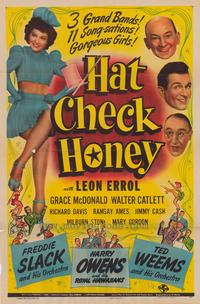 Hat Check Honey - 43 x 62 Movie Poster - Bus Shelter Style A