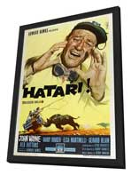 Hatari! - 27 x 40 Movie Poster - Italian Style A - in Deluxe Wood Frame