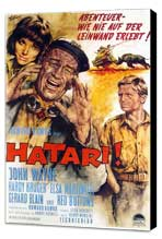 Hatari! - 11 x 17 Movie Poster - German Style A - Museum Wrapped Canvas