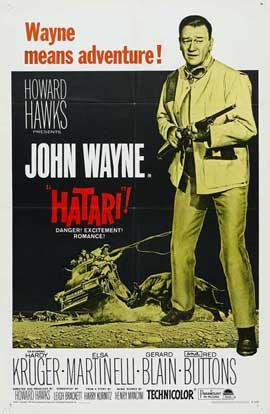 Hatari! - 27 x 40 Movie Poster - Style D