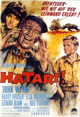 Hatari! - 11 x 17 Movie Poster - German Style A