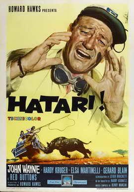 Hatari! - 27 x 40 Movie Poster - Italian Style A