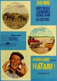 Hatari! - 11 x 17 Movie Poster - Italian Style B
