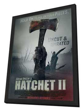 Hatchet 2 - 11 x 17 Movie Poster - Style B - in Deluxe Wood Frame