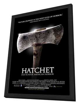 Hatchet - 27 x 40 Movie Poster - Style C - in Deluxe Wood Frame