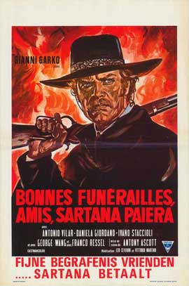 Have a Good Funeral, My Friend... Sartana Will Pay - 27 x 40 Movie Poster - Belgian Style A