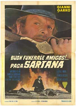 Have a Good Funeral, My Friend... Sartana Will Pay - 27 x 40 Movie Poster - Italian Style A