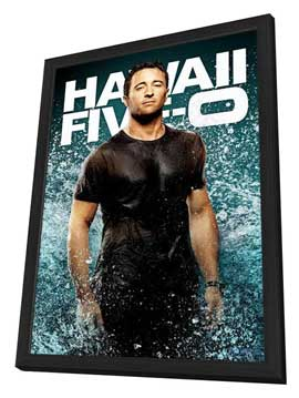 Hawaii Five-0 - 11 x 17 TV Poster - Style D - in Deluxe Wood Frame