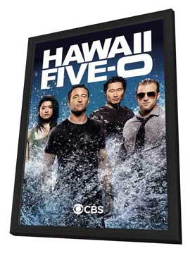 Hawaii Five-0 - 11 x 17 TV Poster - Style E - in Deluxe Wood Frame