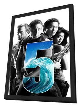 Hawaii Five-0 - 27 x 40 TV Poster - Style A - in Deluxe Wood Frame