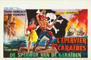 Hawk of the Caribbean - 11 x 17 Movie Poster - Belgian Style A