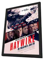 Haywire - 27 x 40 Movie Poster - Style C - in Deluxe Wood Frame