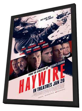 Haywire - 11 x 17 Movie Poster - Style C - in Deluxe Wood Frame