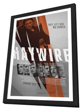 Haywire - 11 x 17 Movie Poster - Style D - in Deluxe Wood Frame