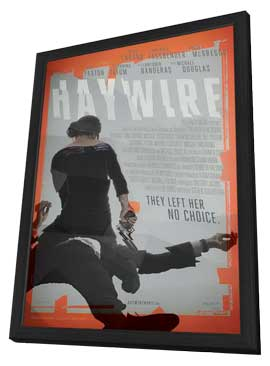Haywire - 27 x 40 Movie Poster - Style B - in Deluxe Wood Frame